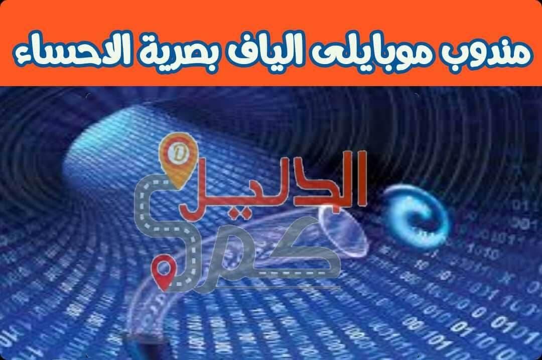 مندوب موبايلى الياف بصرية الاحساء